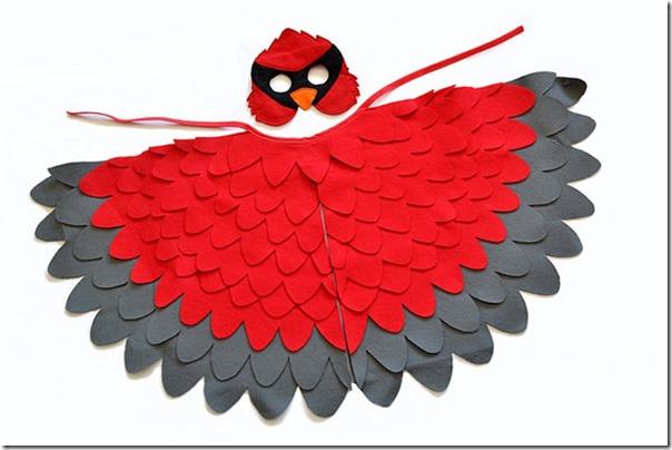 disfraz de pajaros, buhos cisnes con poncho (8)