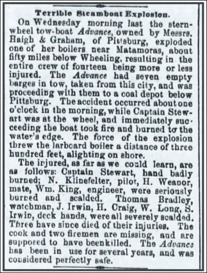 Klinefelter_CincinnatiDailyPress_3 Feb 1862_pg 3