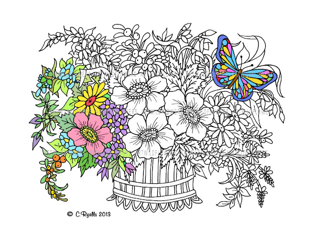 Butterfly Garden Coloring Pages  Coloring Panda