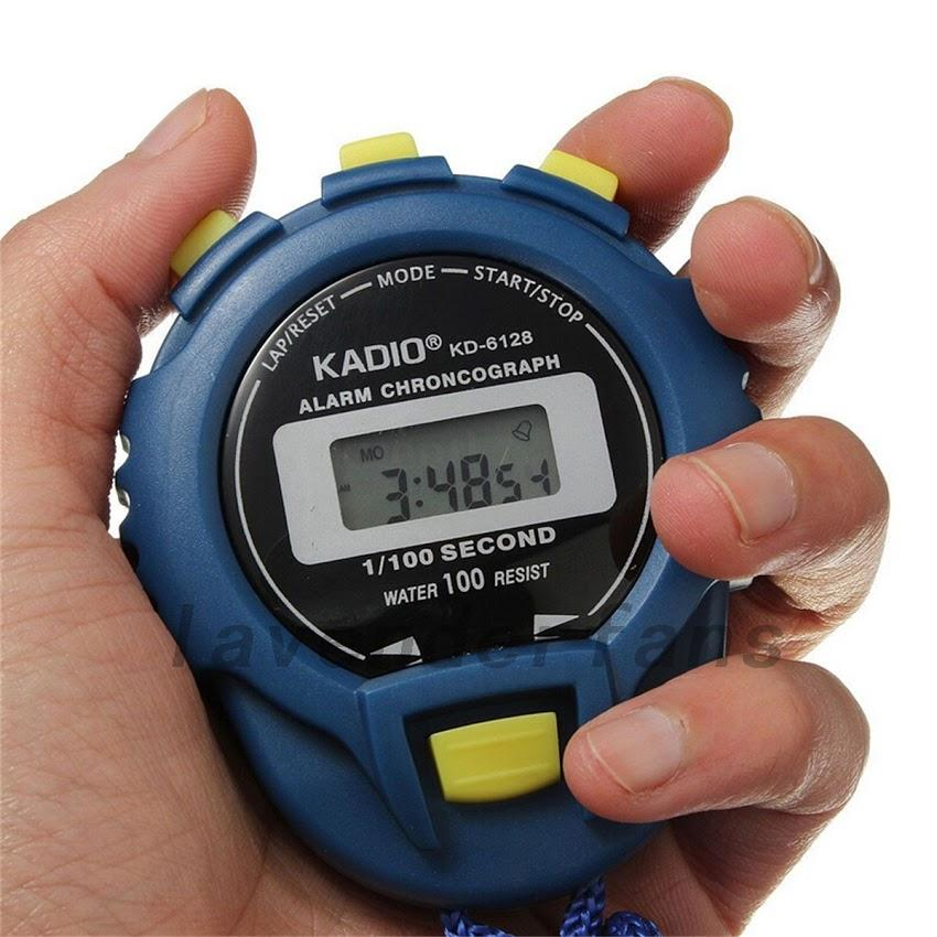 LCD Chronograph Digital Timer Stopwatch Sport Counter Odometer Watch Alarm