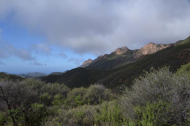 slightly cloudy peaks