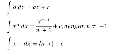 rumus dasar integral