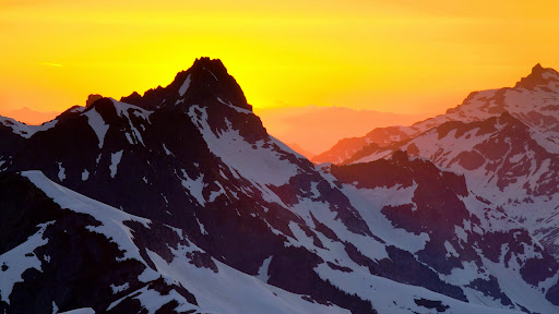 Sunset Behind Nooksack Ridge, North Cascades, Washington.jpg