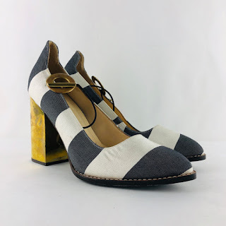 Marcela B. NEW Striped Pumps