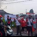 Driver Ambulance Pemdes kabupaten  Cianjur Terus berupaya berbagi di wilayah 4 titik di Bulan Ramahan