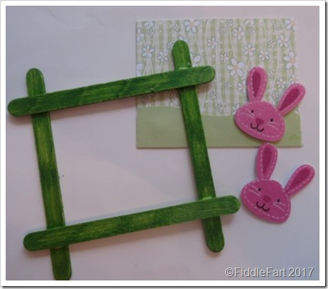 Popsickle Stick aster Bunny Picture Frame