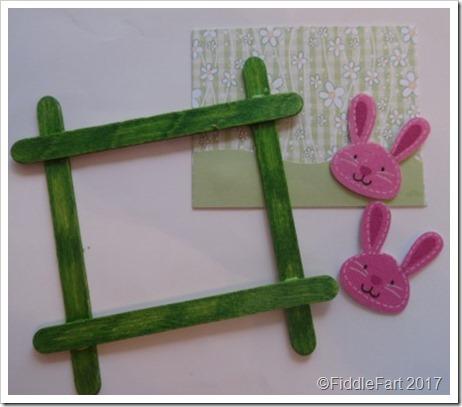 Popsickle Stick aster Bunny Picture Frame