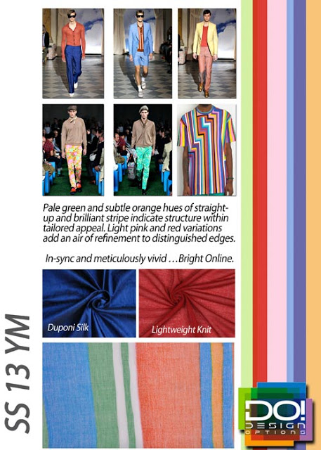Young Men's Color Trends S/S 2016: Design Options