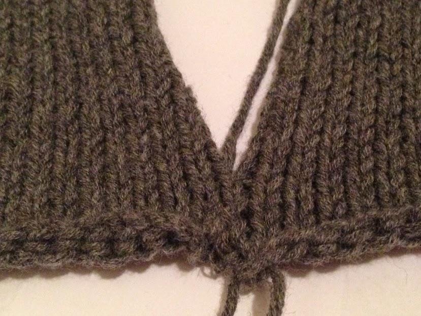 Mattress stitch pulled snug.
