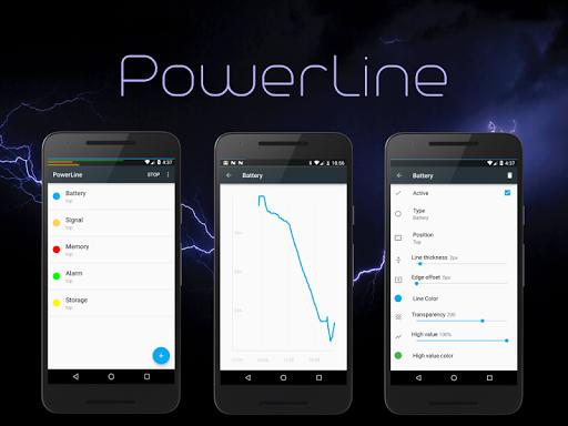 PowerLine: On screen battery, signal, data lines  screenshots 10