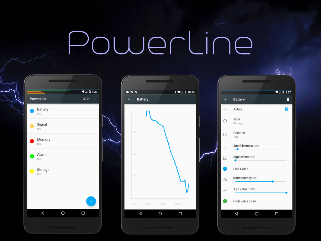 PowerLine: captura de pantalla