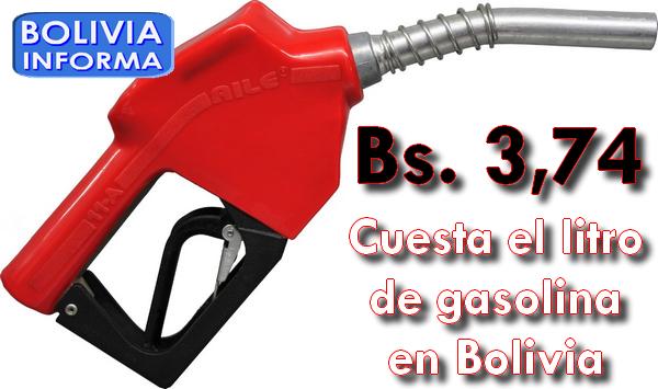 Gasolina en Bolivia