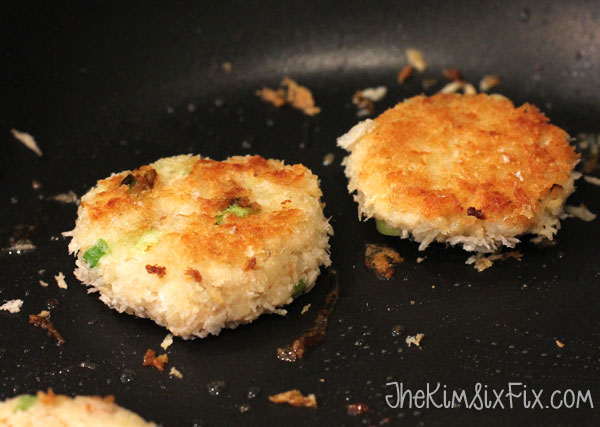 Pan fried tuna cakes