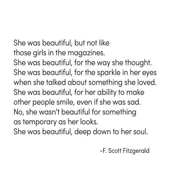 beautiful -- f. scott fitzgerald