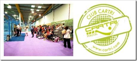 CARTRI Pádel colabora con diferentes clubes en todo el territorio nacional