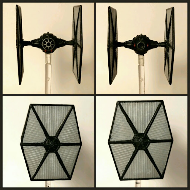 Tie fighter del episodio 7 the force awakens pintado por xela
