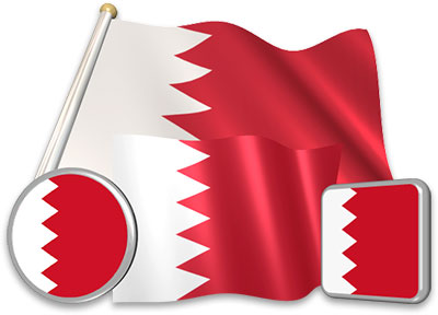 Bahraini flag animated gif collection