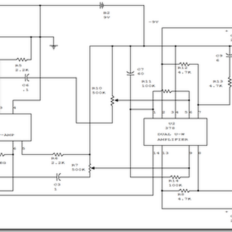 Schematic Simple Mini Stereo Amplifier Circuit Diagram