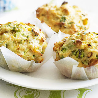 Zucchini and Corn Muffins.