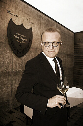 Richard Geoffroy at Dom Perignon - Original Photo courtesy of www.wineinchina.com Edited for this post by ©LeDomduVin 2020