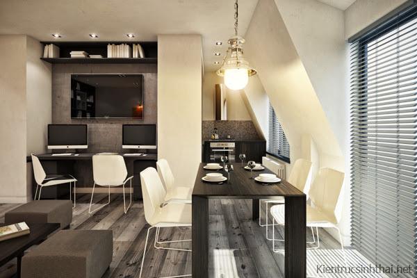 Phòng ăn căn hộ hiện đại