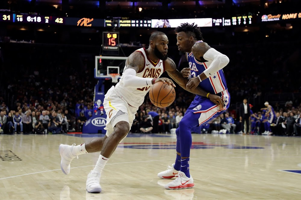 92da3299f9a ... LBJ Wears Whiteout Nike Soldier 11 as Cavs Dominate 76ers ...