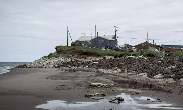 Residents of Shishmaref voted to relocate to the mainland, but in common with other Alaskan towns, there is no clear source of funding to do this. Photo: Andrew Burton / Getty Images