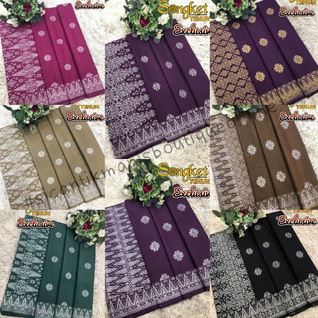 Songket tenun Cotton Eksklusif. Korang wajib ada sepasang dalam koleksi pakaian kegemaran korang.