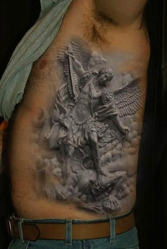 o_bem_contra_o_mal_cinza_tatuagem_3d