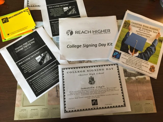 School Counselor Space: College Signing Day...Take 1