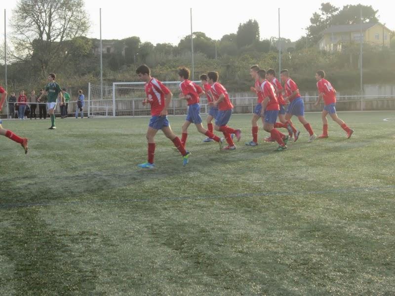 Instante do partido de cadetes G. Mugardos - Numancia en A Pedreira (16/11/2013)