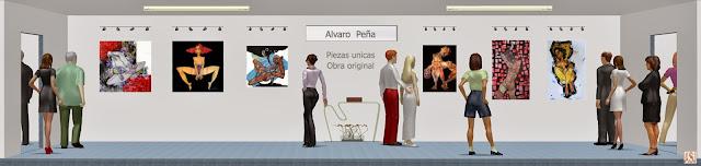 Sala de exposición virtual de pinturas de Álvaro Peña