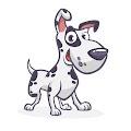Funny Cartoon Dalmatian Dog Free Download Vector CDR, AI, EPS and PNG Formats