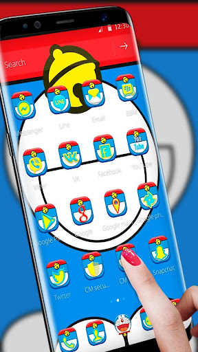 Blue Cat Launcher Theme & Blue Cute Cat Theme for PC