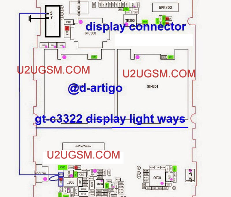 Samsung C3322 Display Light