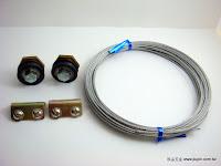 裝潢五金 品名:B666-9-拉門同步吊輪 配件:青銅+培林輪+鋼索 玖品五金