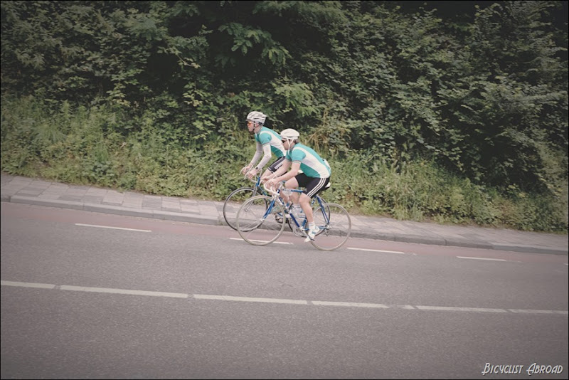 two green riders eroica