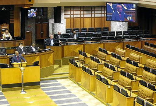 Opposition parties boycotted President Jacob Zuma's response to his budget debate in the National Assembly on 1 June 2017.