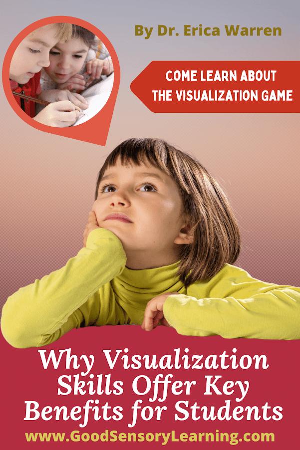 Child visualizing reading at school
