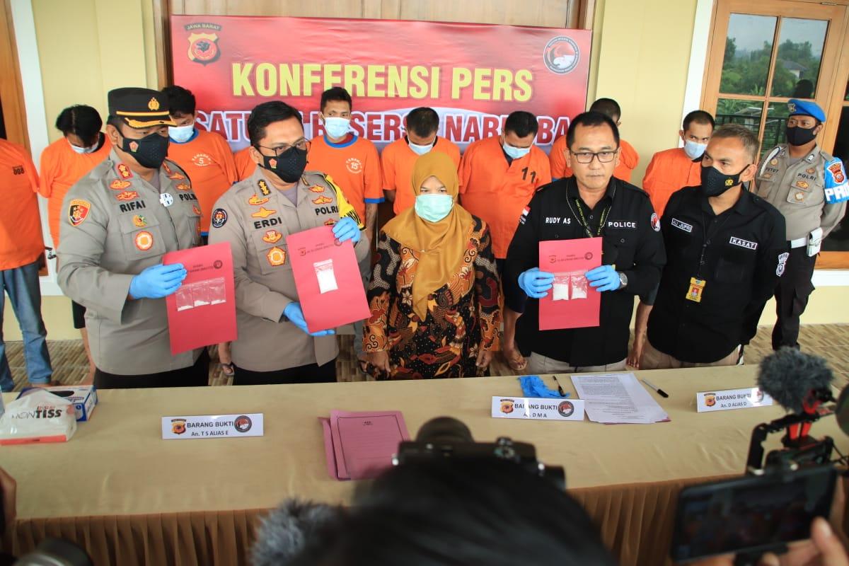 Polda Jabar Berhasil Mengungkap Jaringan Lapas Oleh Satres Narkoba Polres Cianjur