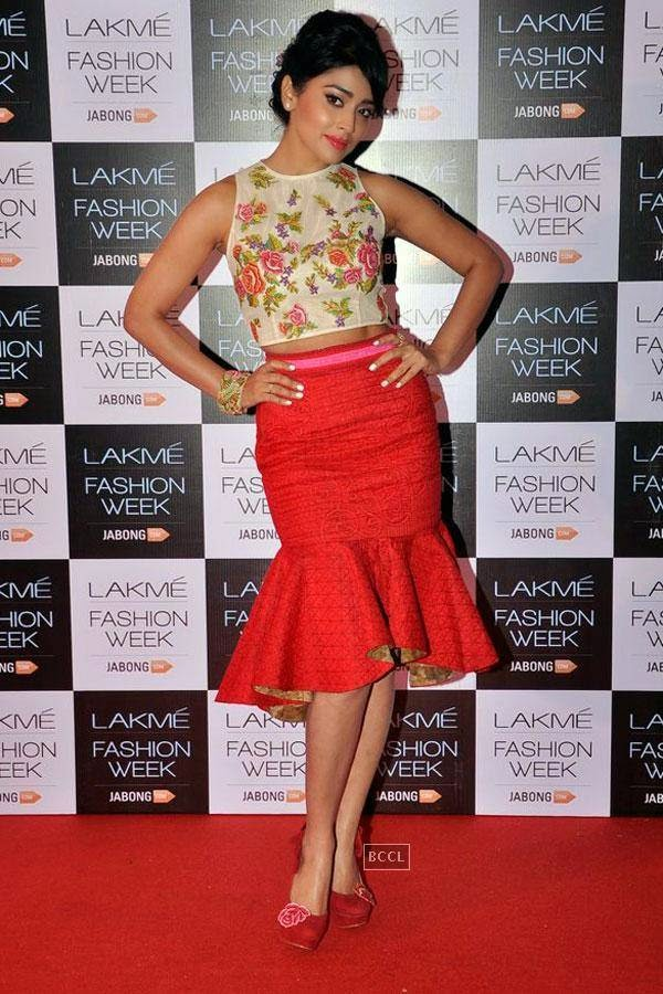 Shreya Saran during Lakme Fashion Week curtain-raiser, held in Mumbai, on July 28, 2014. (Pic: Viral Bhayani)