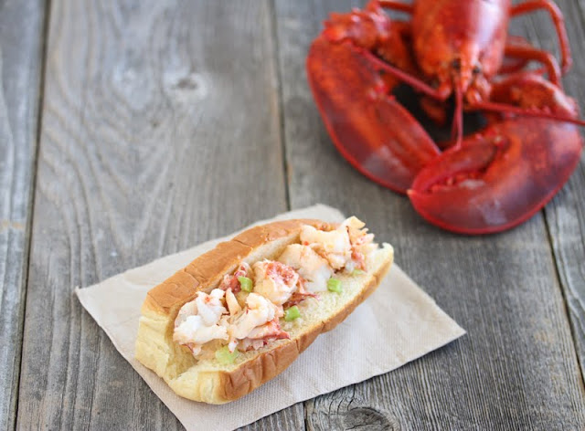 close-up photo of a lobster roll