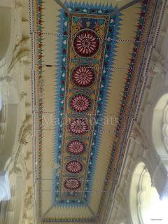 Thirumalai Nayakkar Palace -Roof art work 2
