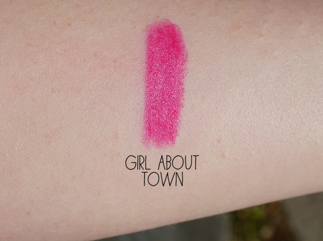mac girl about town swatch review