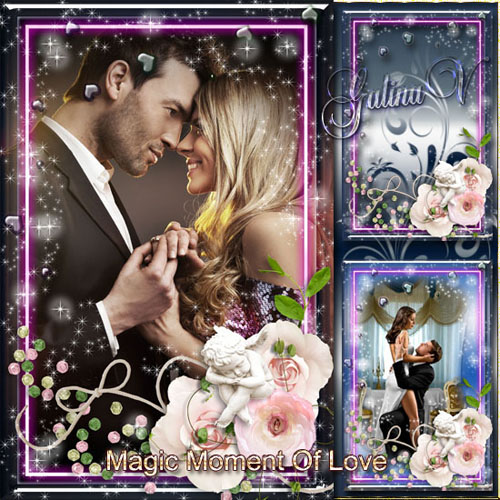 Romantic Valentine's Frame - Magic Moment Of Love