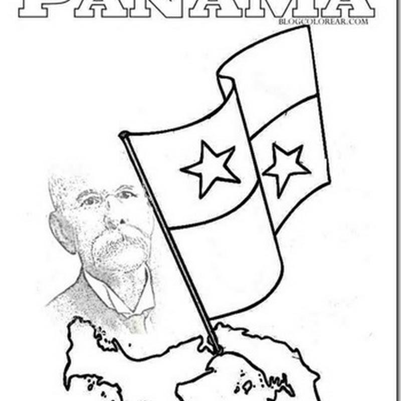 dibujos Panamá para colorear.  Manuel Amador
