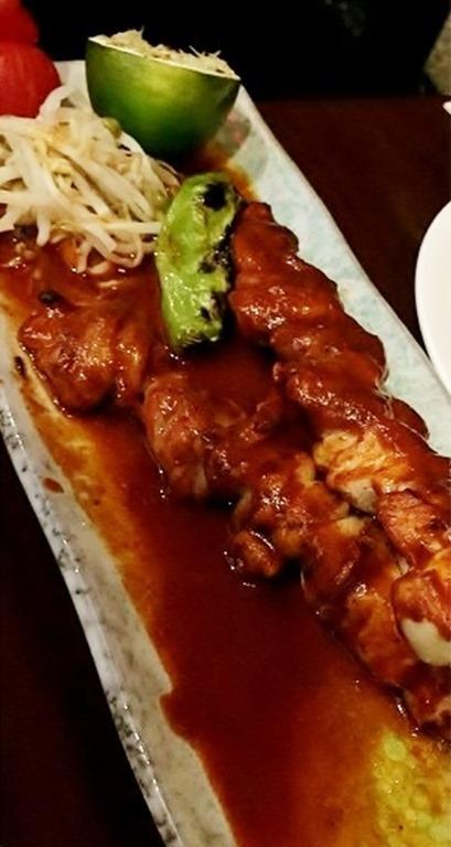 Nobu 57 Chicken Kushiyaki with Anticucho sauce