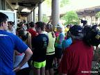 Lots of runners, lots of media.