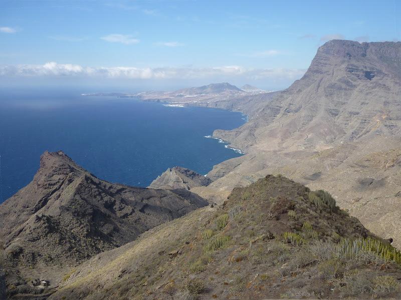 Auf der GC-200 in Richtung Süden. An der Westküste Gran Canarias.