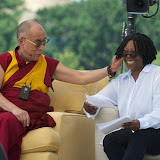 "Dalai Lama with Whoopi Goldberg (Emcee) for ""A Talk For World Peace"" - West Lawn of US Capitol - July 9, 2011"
